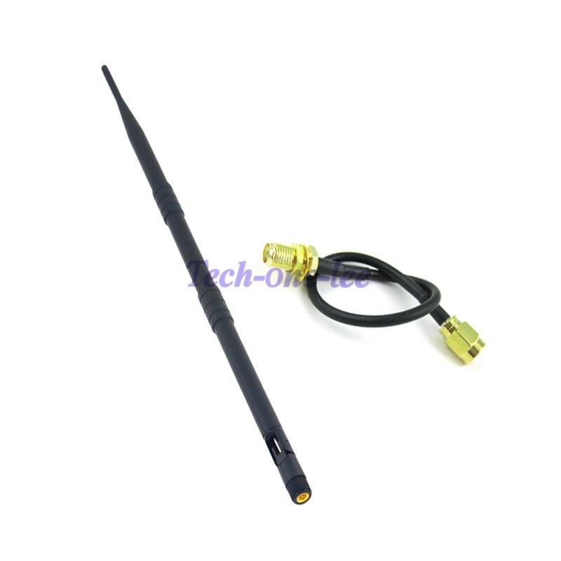10 pièce/lot 4g antenne lte modem antenne 9db 698-960/1710-2700 MHZ 4g lte SMA mâle + câble Pigtail RG174 3 M SMA femelle à SMA mâle