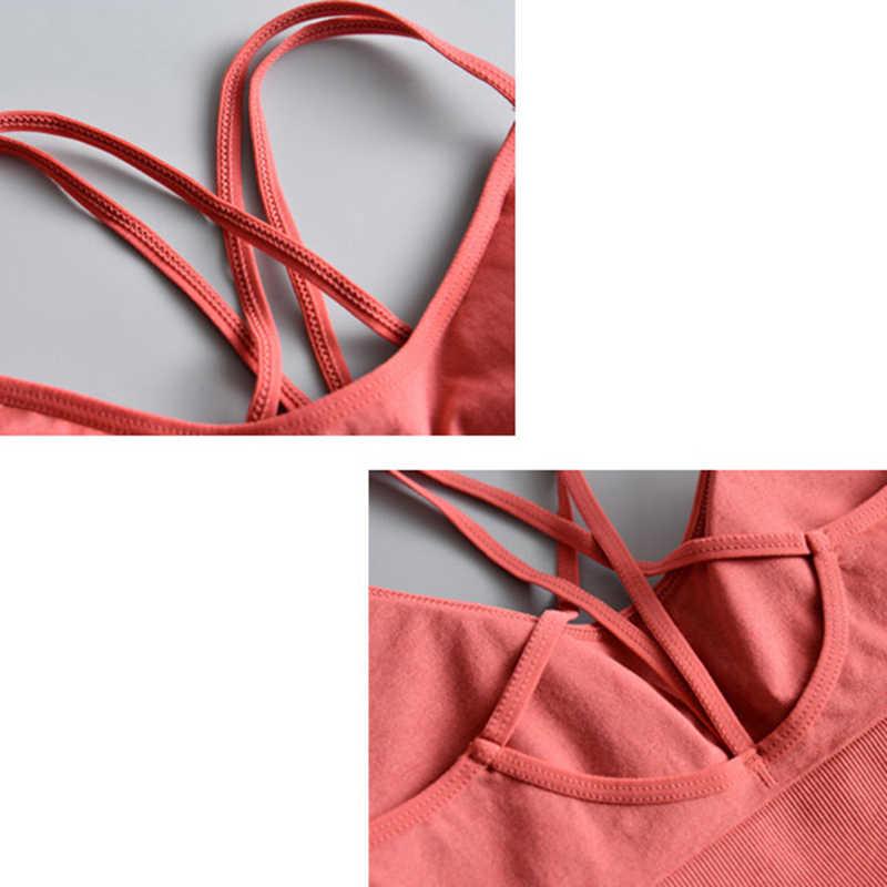 Yoga Shirt Cross Terug Running Sport Overhemd Push Up Sport T-shirt Gym T-shirt Voor Vrouwen Fitness Shirt Top Sujetador deportivo
