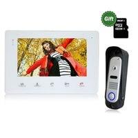 YSECU Get Free SD Card 7 TFT Wired Video Intercom Doorbell Rainproof Door Phone Camera Chime