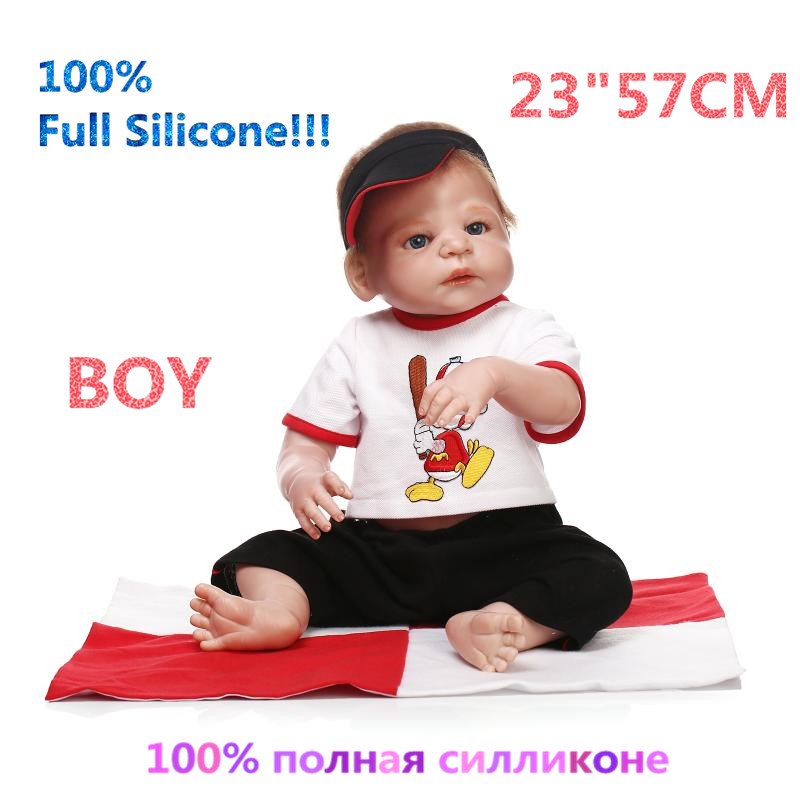 23 Growth Partners Boy Reborn 100% Full Silicone Brinquedo Doll Reborn Babies Silicone Lifelike Baby Dolls Kids RB16-08H10 christmas gifts in europe and america early education full body silicone doll reborn babies brinquedo lifelike rb16 11h10