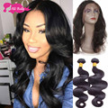 Ali Moda Hair With Closure 360 Lace Frontals With Bundles Human Hair With Baby Hair Indian Body Wave With Closure Hair Weave