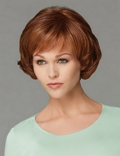 new arrival 10inch heat resistant synthetic bob wigs for black women puffy short auburn best natural looking kinky hair - Auburn Coloration