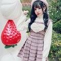Princesa vestidos lolita doce BOBON21 amor De Pelúcia tecido De Lã bordados Colete vestido D1433