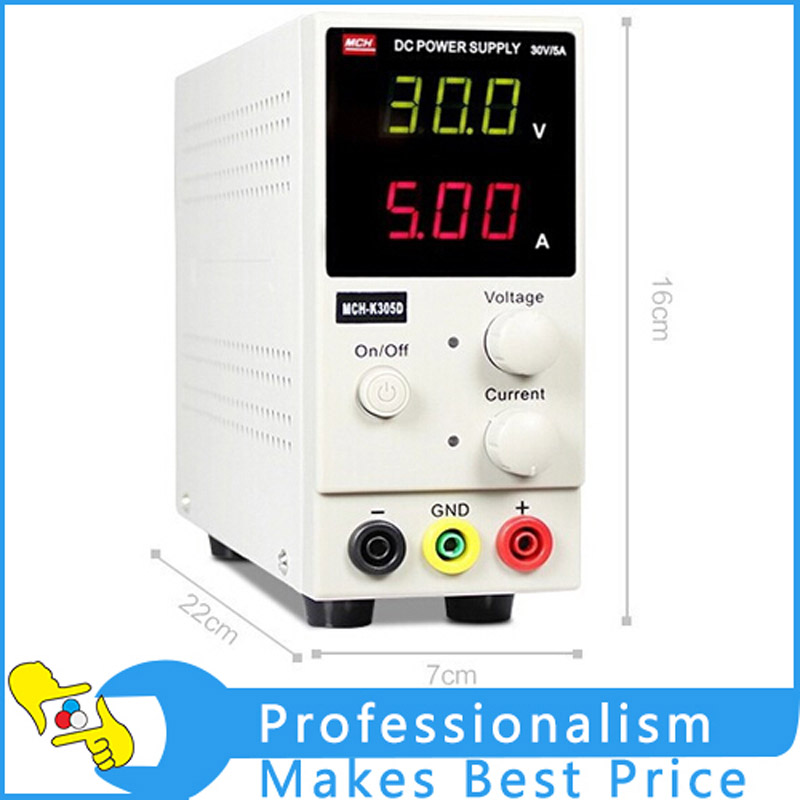 New Design MCH-K305D Mini Switching Regulated Adjustable DC Power Supply SMPS Single Channel 30V 5A Variable MCH K305D mystery mch 1025