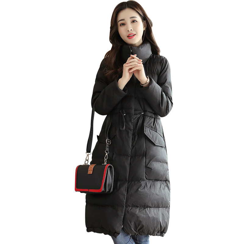 Winter Stand Collar Thick Warm Padded Coat For Female Solid Color Casual Manteau Femme Hiver Cotton Wadded Parka TT3449 real fox fur warm hooded padded jacket women solid color casual manteau femme hiver medium long parka slim coat cotton tt3461