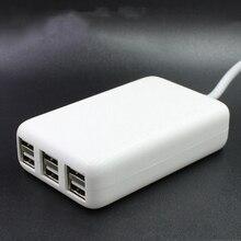 6 Portas Hub USB Portátil AC Desktop Carregador de Parede UE/EUA/REINO UNIDO Plug Power Adapter Carregamento Slots de Extensão soquete Com Switche