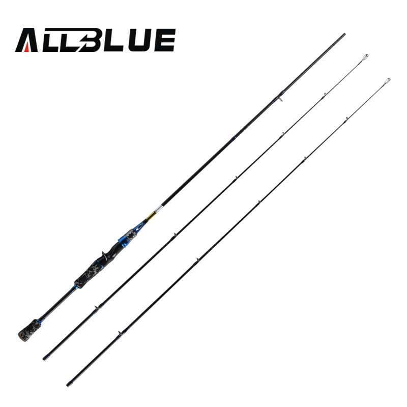 ALLBLUE Brave 2.1m Lure Fishing Rod With 2 Tips Power M High Carbon Bait Casting Rod 210cm Fishing Rod Fishing Tackle lure fishing rod brave lure rod spinning