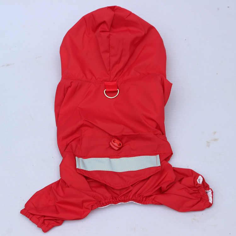 Płaszcz przeciwdeszczowy dla psów średni płaszcz przeciwdeszczowy dla psów wodoodporny płaszcz przeciwdeszczowy dla małych psów płaszcz przeciwdeszczowy z kapturem ubranko dla zwierząt odzież