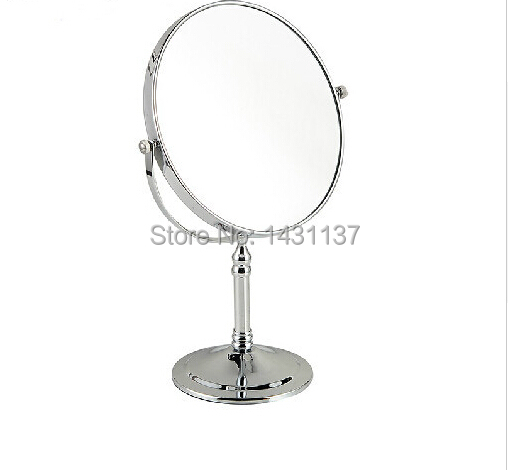 high quality chrome 3 times double faced magnifying mirror retractable double faced dressing mirror