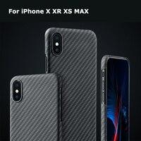 Роскошные углеродного волокна узор чехол для телефона чехол для iPhone X XS Max XR 7 8 Plus матовая арамидного волокна ультра тонкий чехол телефона