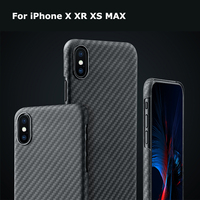 Luxurious Carbon Fiber Pattern Phone Case Cover for iPhone X XS Max XR 7 8 Plus Matte Aramid Fiber Ultra Thin Phone Cover