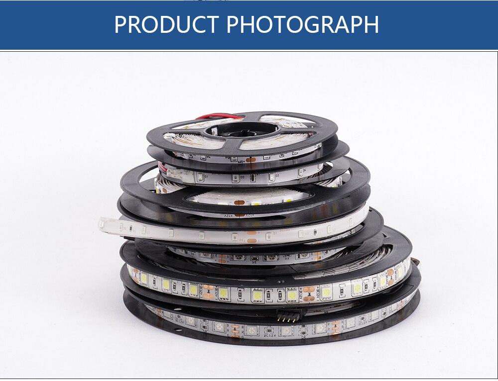 HTB1UE4fbyLrK1Rjy1zdq6ynnpXae LUCKYLED 5M LED Strip 12v RGB Waterproof 5050 2835 SMD Diode RGB Tape Ribbon Flexible LED Light Strip 60leds/m LED Stripe