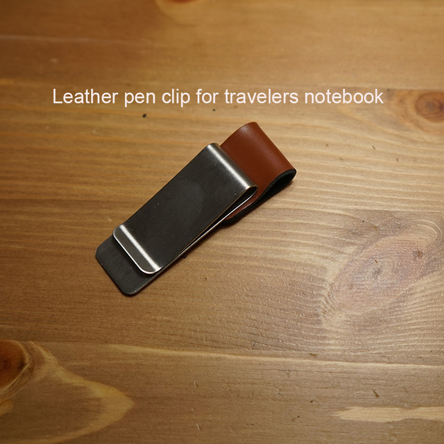 1pcs Penclip leather clip metal penclip holder for travelers notebook pen  clip 4 types color penclip school supplies a77ed9be382ab