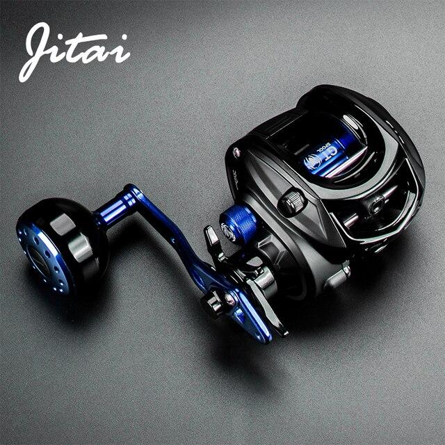JITAI Baitcasting Fishing Reel Stainless Steel 12BBs 8KG Carbon Drag Carretilha de pesca Coil Wheels Aluminum alloy Handle Knob