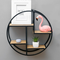 Home Decor Retro Wooden Storage Racks Hanging Magazine Flower Pot Storage Shelf Rack Wall Book Figurines Crafts Display Shelves