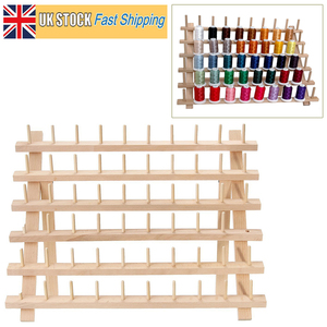 Image 4 - Foldable Wood Thread Stand Rack Holds Organizer Wall Mount 60 Spool Cone Embroidery Machine Sewing Storage Holder