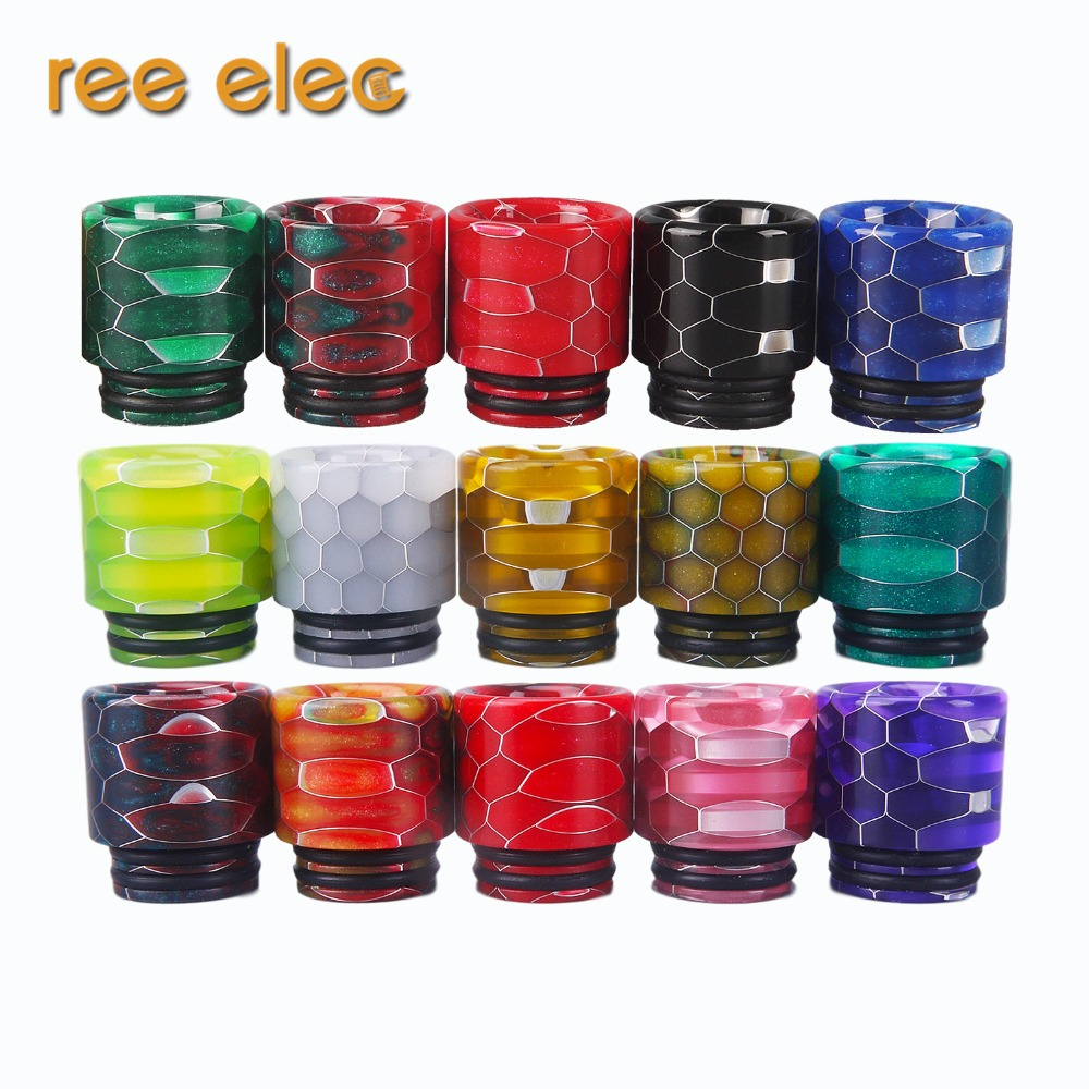 REE ELEC Resin 810 Drip Tip Electronic Cigarette Accessory Smoke Mouthpiece For Rda Rba Rta Atomizer Tank Supply ...