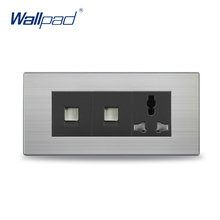 Free Shipping, POLO luxury wall socket panel,110~250V,3-hole 2-computer Multifunction socket, power electrical outlet цена 2017