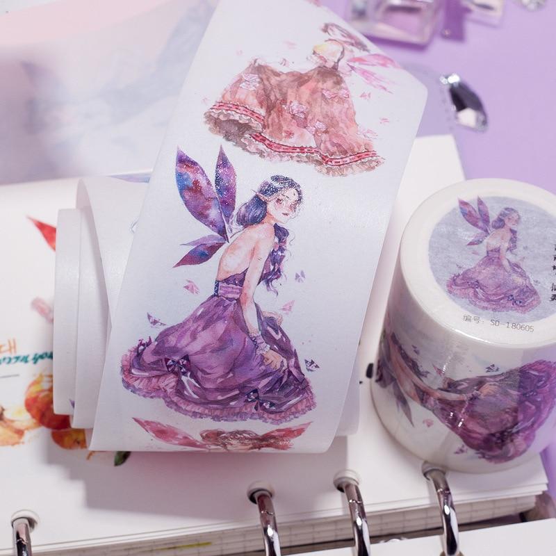 MaoTu Classic Angel Washi Tape Adhesive Tape Sticker DIY Album Diary Decorative Scrapbook Masking Tape 48mmx3m