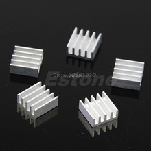 5Pcs/set High Quality Aluminum Heat Sink For Memory Chip IC 11*11*5mm JUL09 Drop ship(China)