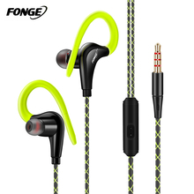 Fonge S760 Ear Hook Earphones Outdoor Sports Headphones Wired MP3 Headsets Noice Cancelling with Microphone for iPhone Xiaomi
