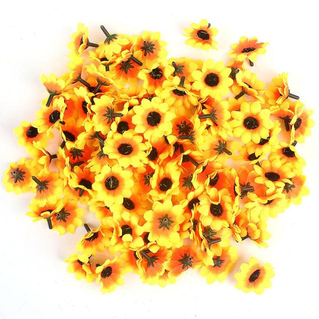 Vivid Sunflowers Daisy Home Decor Artificial Flowers For Wedding Garden  Party Decoration