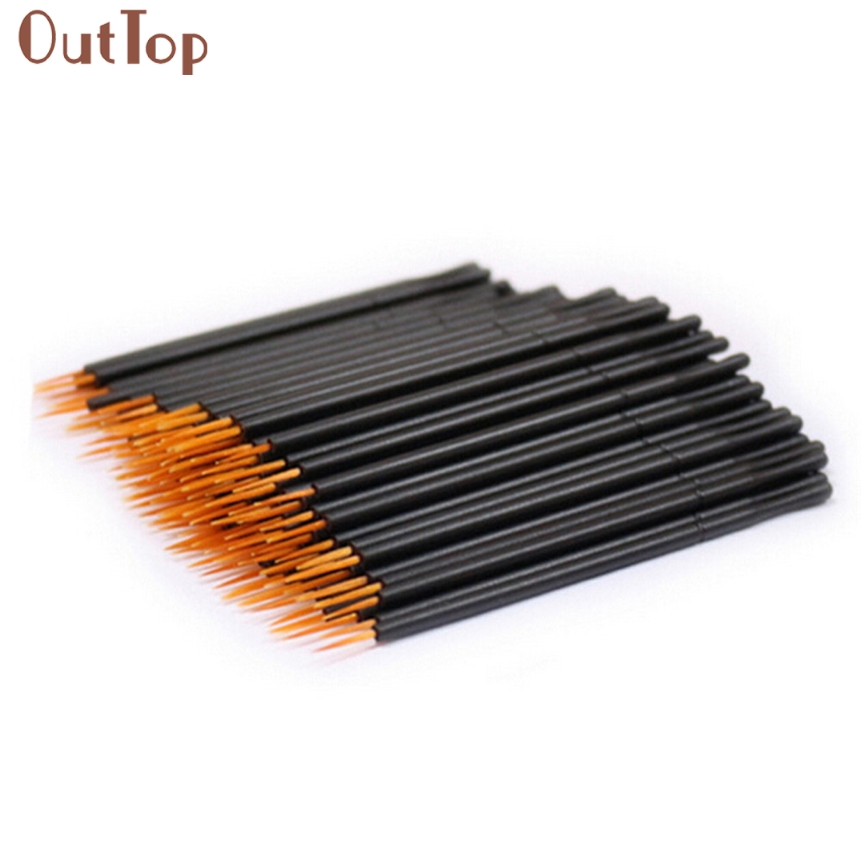 100pcs Hard Hair Makeup Brushes Disposable Eyeliner Wand Applicator Cosmetic Brush 170802 Drop Shipping