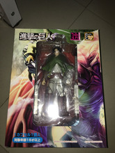 Japanese Anime Action Figure Game Attack on Titan Ackerman Levi 20cm PVC Model Collectible Cosplay Cool Boy Kids Birthday Toys