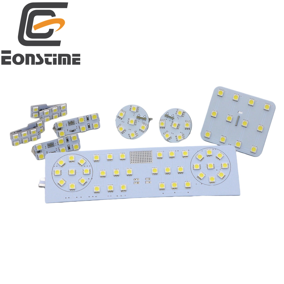 Eonstime 12V 8pcs/set SMD 5050 Car Interior Dome Light Reading Light For Volkswagen VW Passat B6 B7 2008 2009 2010 2015 6500K