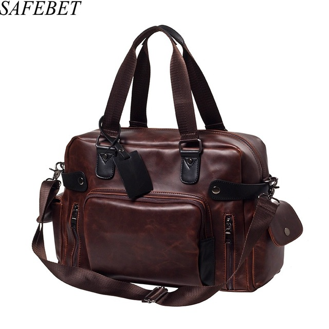 SAFEBET Brand Crazy Horse Leather Luxury Style Men S Handbags Messenger Bag  Retro Large Capacity Men Bags Fashion shoulder Bag-in Totes from Luggage    Bags ... 3533bfa9f4529