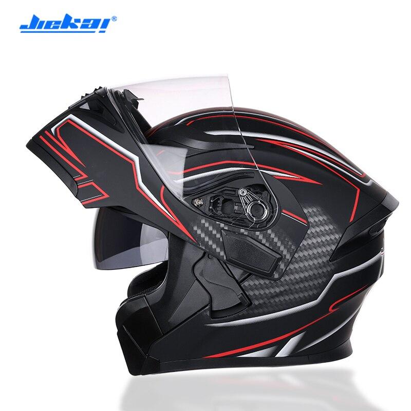 Free shipping Safe Flip Up Motorcycle motorcross motorbike Helmet With Inner Sun Visor JIEKAI 902 DOT