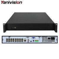 DJ-2516P 1.5U Поддержка 4 HDD ONVIF P2P 16CH 5MP POE NVR Full HD видеонаблюдения Регистраторы P2P ONVIF обнаружения движения