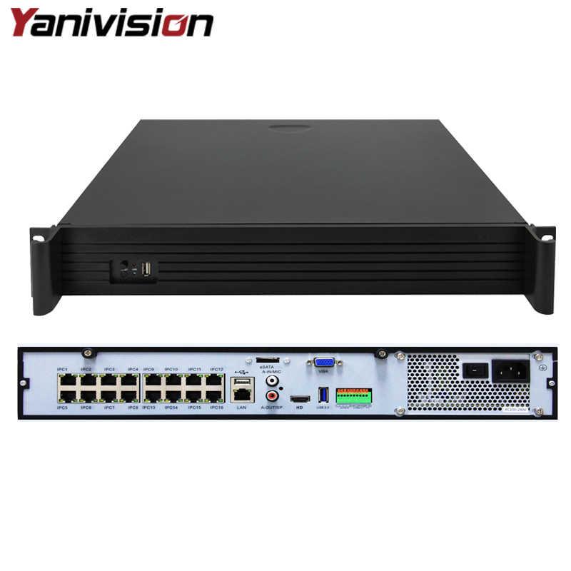 DJ-2516P 1.5U دعم 4 HDD ONVIF P2P 16CH 5MP POE NVR كامل HD الأمن مراقبة CCTV مسجل P2P ONVIF الحركة كشف