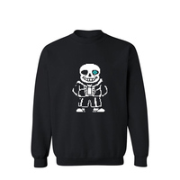 Cartoon Skeleton Pattern Mens Hoodies And Sweatshirts Spring High Quality Sweatshirt Men Hip Hop Black And