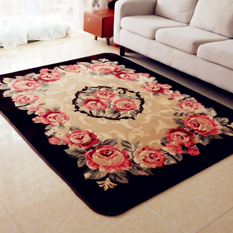200X300 CM pastorale Rose tapis de fleurs pour salon maison chambre tapis et tapis salle d'étude tapis de sol Table basse tapis
