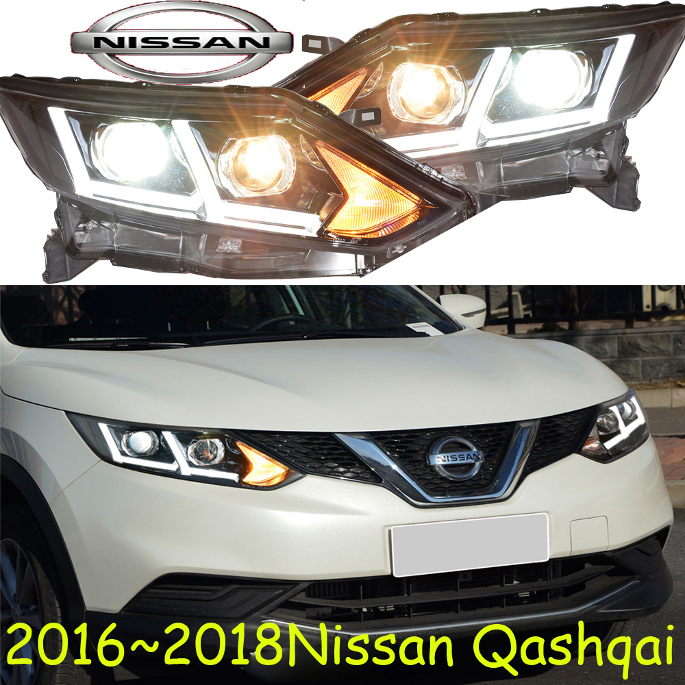 Qashqai headlight,2016 2017 year,Free ship! Qashqai fog light,2ps/set+2pcs Aozoom Ballast,LED,TEANA, Qashqai teana fog light 2pcs set led sylphy daytime light free ship livina fog light