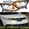 Qashqai headlight,hid xenon,LED,2016 2017 year,Free ship! Qashqai fog light,car accessories,LED,TEANA, Qashqai taillight