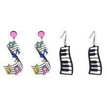 Colorful Music Note Earrings