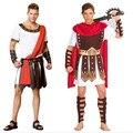 Ancient warrior homens gladiadores traje trajes do partido do disfarce cavaleiro romano júlio césar adulto cosplay tema casal cotume