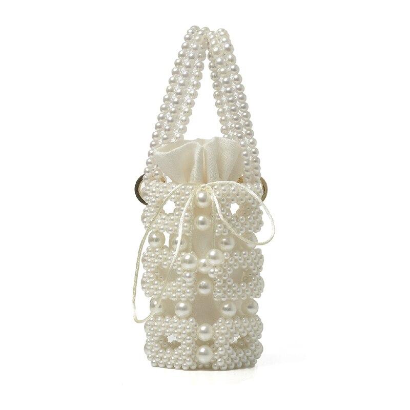 Perle sac femme 2019 nouveau petit fourre-tout sac à main dames de luxe perlé soirée mains sacs femmes Vintage sacs à main livraison directe