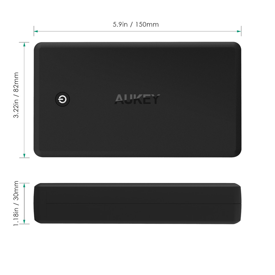 aukey quick charge power bank 30000mah external. Black Bedroom Furniture Sets. Home Design Ideas