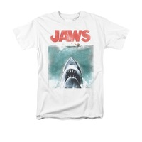 Jaws Movie Vintage Poster Men Adult T Shirt Short Sleeve
