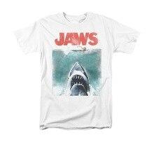 Челюсти Фильм Урожай Плакат мужчины Взрослых Майка С Коротким рукавом акула печатных cool футболка