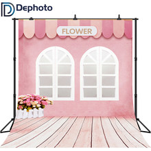 Dephoto Photography Backdrop Pink Flower Shop Girls Birthday Baby Shower Background Party Decor Shoot Studio Photo Booth Props(China)