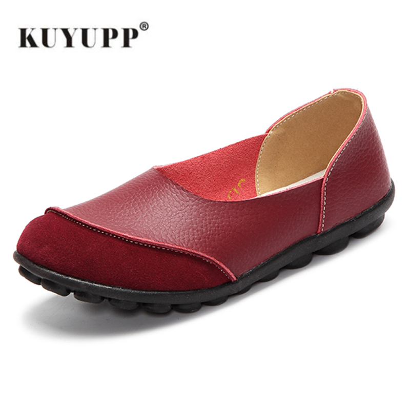 Big Size 35-43 Fashion Women Flat Genuine Leather Women Shoes Causal Loafers Moccasins Slip On Ladies Shoes Footwear New YD702 new round toe slip on women loafers fashion bow patent leather women flat shoes ladies casual flats big size 34 43 women oxfords