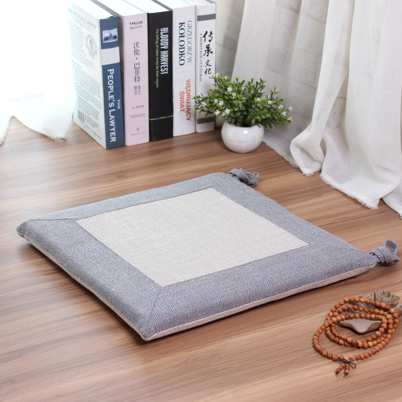 Linen Chair Cushion Thin Office Computer Chair Square Tatami Cushions  Floating Window Floor Dining Chair Cushion In Cushion From Home U0026 Garden On  ...