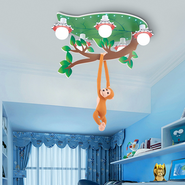 led deckenleuchten kinderzimmer lampe schlafzimmer junge und m dchen warme pers nlichkeit. Black Bedroom Furniture Sets. Home Design Ideas