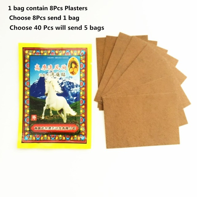 Cheapest 8Pcs/Bag Far IR Heating Horse Bone Marrow Plaster 7*10 CM Medical Analgesic Essential oil Pain Relief Patch Muscle Essential Oil