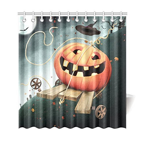 Fun Pumpkin Home Decor Autumn Holiday Halloween Polyester Fabric