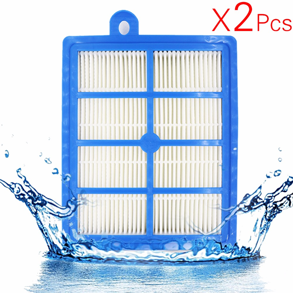 2PCS/lot H12 H13 Washable and Reusable Hepa Filter, Fits Philips Electrolux EFH12W AEF12W FC8031 EL012W vacuum clener parts